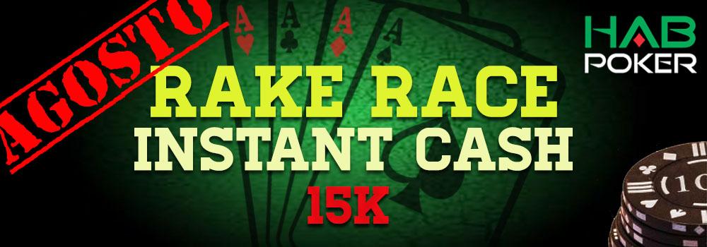 Clasificación actualizada de la Tercera Rake Race de la Instant Cash 15K Agosto